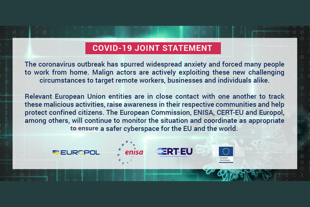 Europol Statement on COVID-19 Cybersecurity