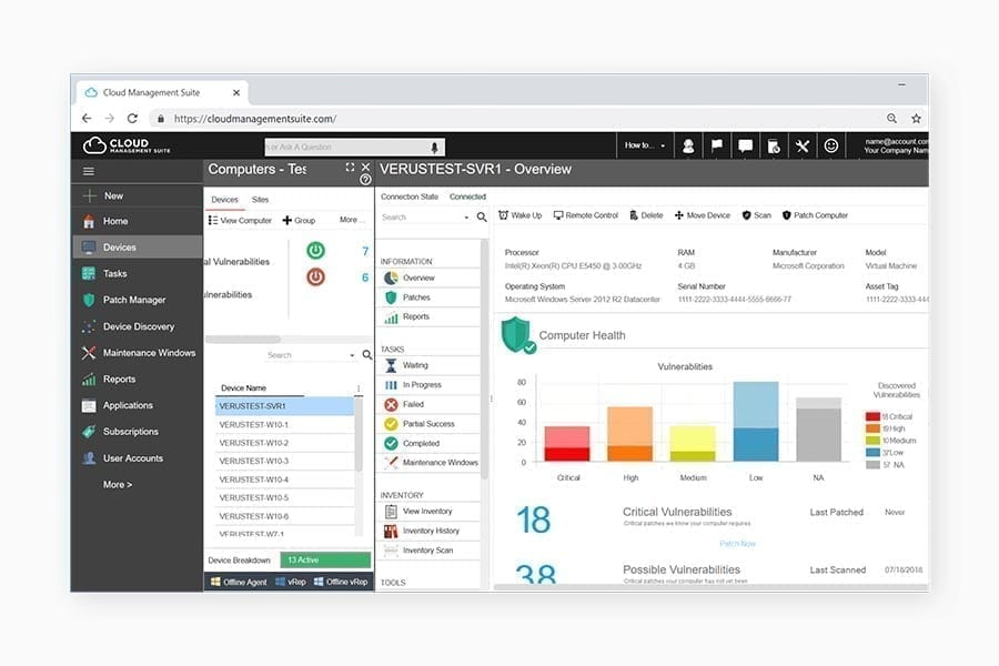 Browser version of Syxsense's patch management software